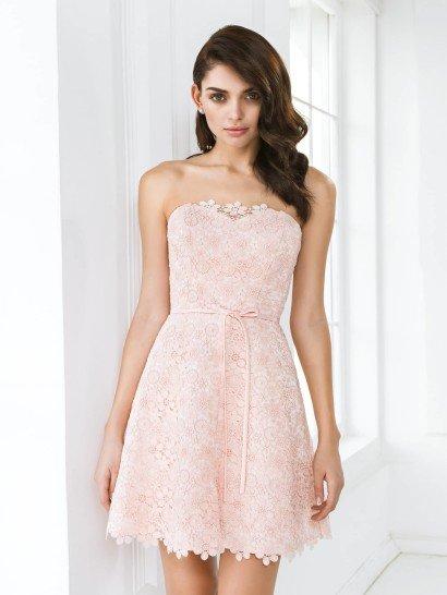 Короткое пляжное свадебное платье 2015.