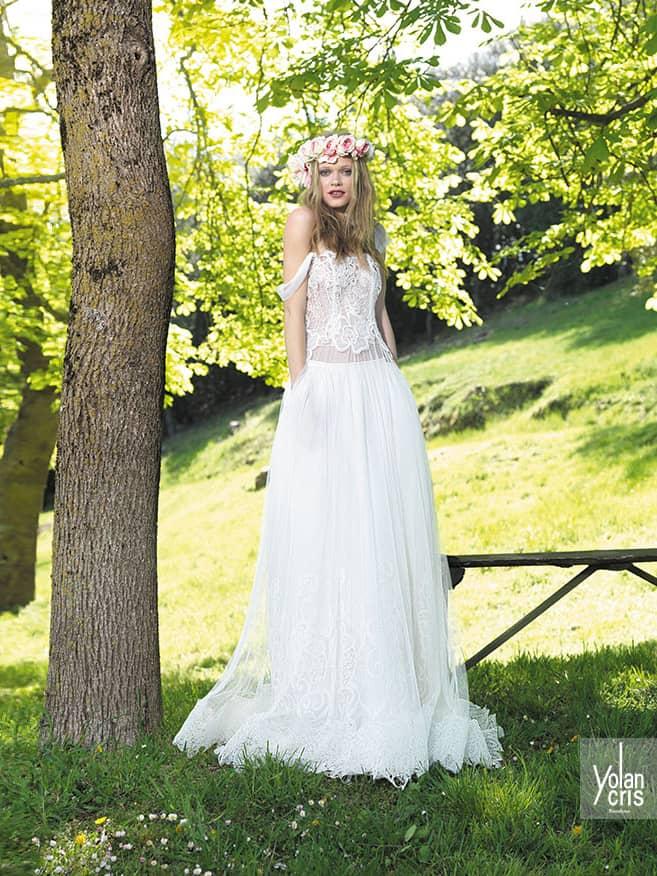 Эксклюзивное свадебное платье в богемном стиле.