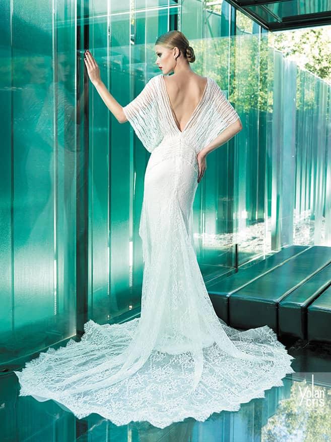 Свадебное платье с открытой спиной 2015.