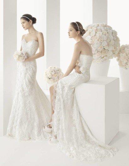 Открытое свадебное платье русалка.