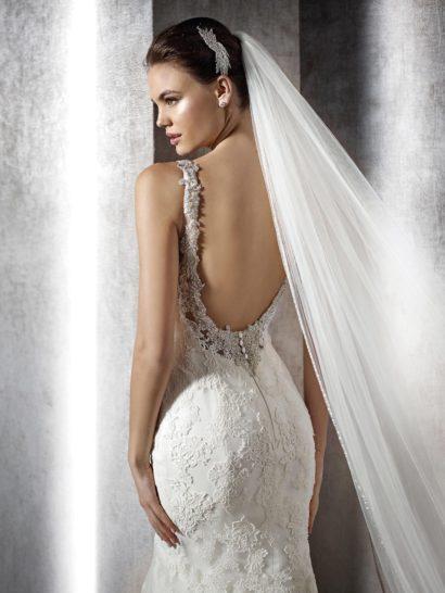 Свадебное платье силуэта рыбка на бретелях.