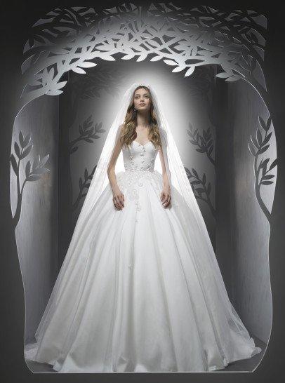 Пышное стильное свадебное платье