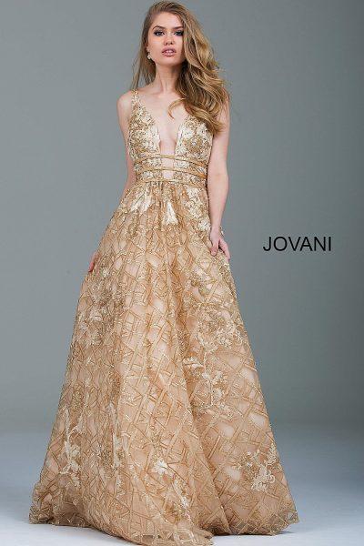 03247a013e0 Золотое вечернее платье с эффектным вырезом